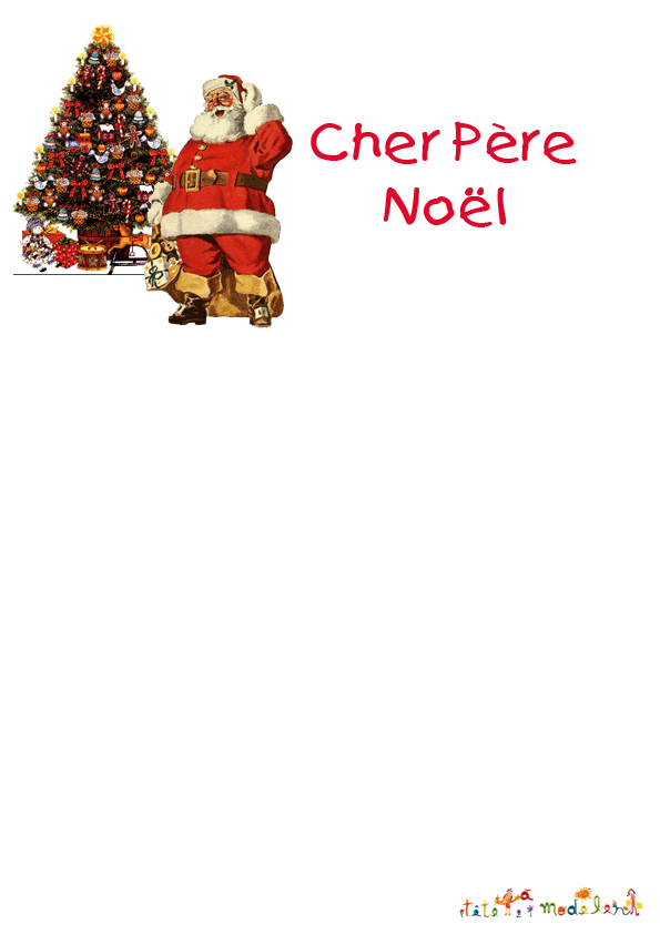 Lettre Pour Le Pere Noel.Lettre Type Pour Le Pere Noel